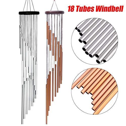 DANANGUA 90cm Grande Y Profunda De Relajación 18 Tubos Wind Chimes Viento...