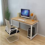 Dripex Modern Simple Style Steel Frame Wooden Home Office Table - Computer PC La