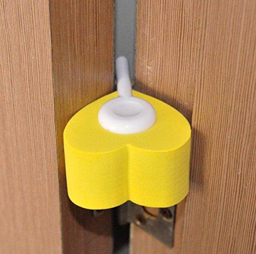 Tope de Puertas Para Bebé de Cunina® Protector Para dedos de los Bebés de Color Amarillo y Morado - Pack de 2
