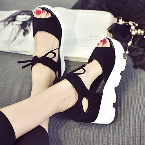 XY&GKFrau Xia Songgao's Sandalen Frauen Fisch Heels und Heels 39 black