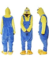 Outdoor Top Polar Fleece Despicable Me Yellow and Blue Minions Unisex Onesie Cosplay Costume Hoodies/Pyjamas/Sleep Wear