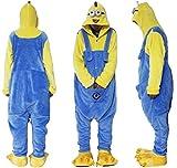 Outdoor top Polar Fleece Despicable Me Gelb und Blau Minions Unisex Einteiler Cosplay Kostüm Hoodies/Schlafanzug/Sleep Wear Small Blau - blau