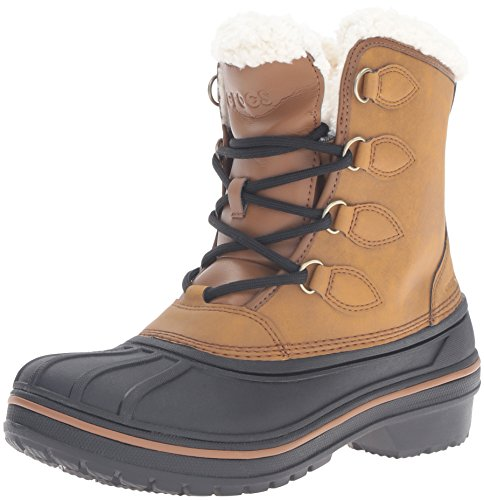 Crocs AllCast II Boot, Bottes femme - Marron (Wheat 209), 38/39 EU