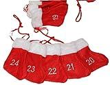 Adventskalender Filzschuhe mit aufgestickten Zahlen - Stiefelchen Girlande zum Befüllen