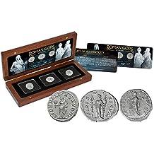 IMPACTO COLECCIONABLES Monedas Antiguas - 3 Denarios de Plata - Los Dioses Romanos