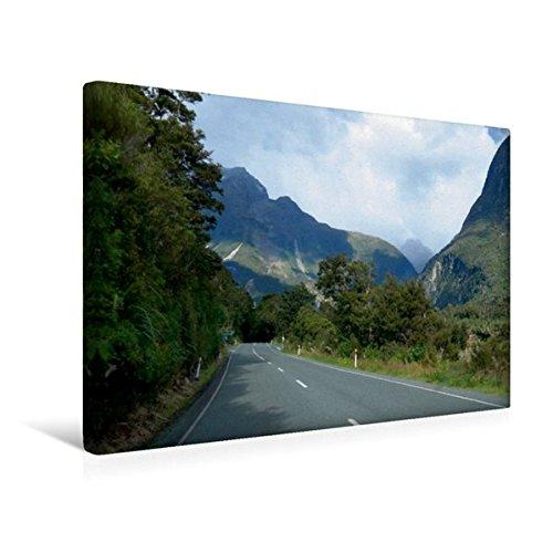 Premium Textil-Leinwand 45 cm x 30 cm quer, Milford Sound Hwy, SH94, Fiordland National Park | Wandbild, Bild auf Keilrahmen, Fertigbild auf echter Leinwand, Leinwanddruck (CALVENDO Natur) (Park National Fiordland)