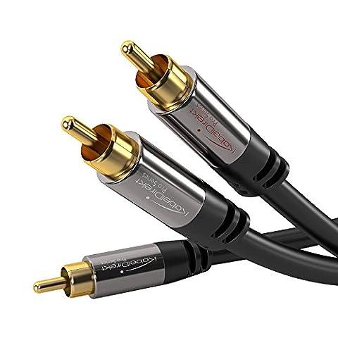 KabelDirekt 2m 1 Cinch zu 2 Cinch Y - Kabel - PRO Series