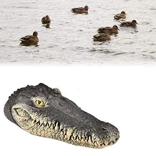 Krokodil Kopf (Kindlyperson Gefälschte Alligatorköder, Simulation Gartenteich Krokodilkopf Float Dekoration treibt Enten)