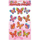 12 Butterfly Sticker Sheets ~ Girls Party Bag Fillers
