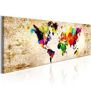 Murando   Bilder Weltkarte 150x50 Cm   Leinwandbild   1 Teilig   Kunstdruck    Modern
