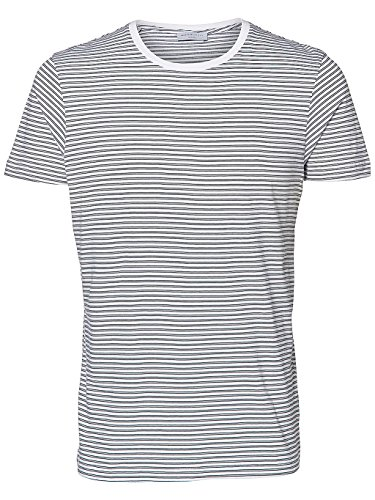 Selected Herren T-Shirt Bright White