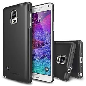 Galaxy Note 4 Coque - Ringke SLIM Coque [Gratuit HD Film/Tout Autour de la Protection][GUNMETAL] Entier Haut et bas double prime de la couverture couché Hard Case étui pour Samsung Galaxy Note 4 (Eco Paquete)