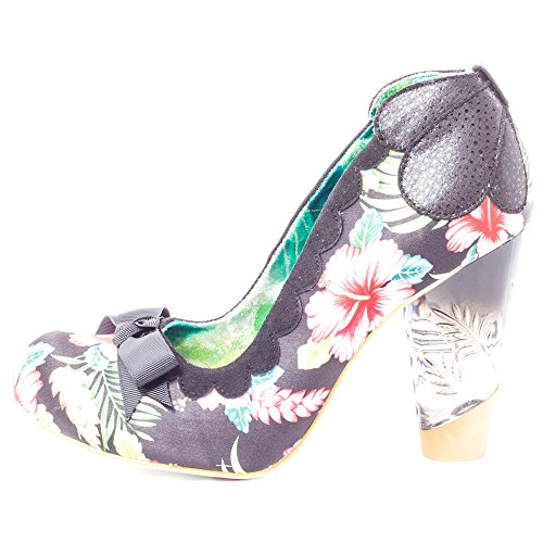 Irregular Choice Delightly Floral Damen Pumps Black Floral