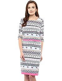 Athena Multicoloured Printed Sheath Dress