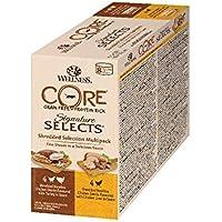 Wellness CORE Katze Signature Selects Getreidefreies Nassfutter Shredded Selection Mix, 8 x 79 g Dosen