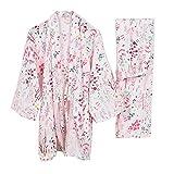 Japanischen Stil Männer Baumwolle Morgenmantel Gaze Kimono Pyjamas Anzug [Sternenhimmel]