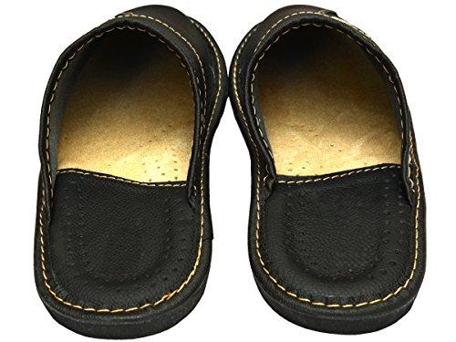 box Hausschuhe Pantoffeln Leder Modell Supermen Herren Geschenkkarton Mi04 Schwarz wahlweise Becomfy Schwarz UqFZAwxxn