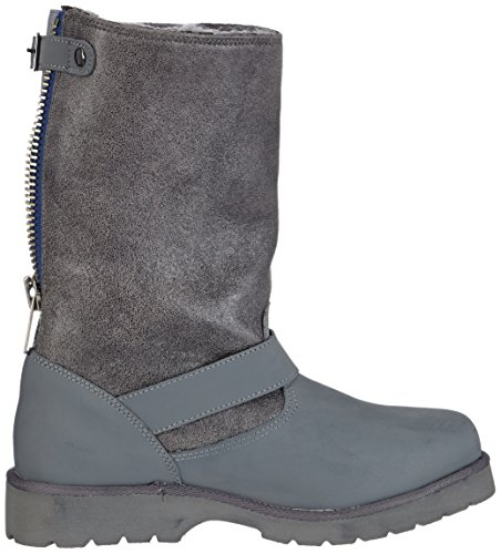 Buffalo 12844 ACTION NUBUCK HEDOSA, Stivali da neve, con caldo rivestimento interno Donna Grigio (Grau (GREY299))