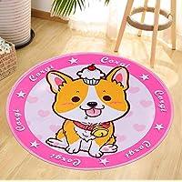 ZXHJK Dog Fashion Simple Round Blanket Mat Corridor 80X80Cm