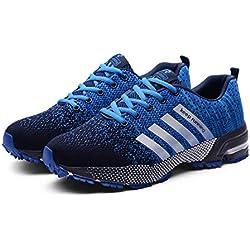 Goalsse Hombres Mujer Zapatillas Calzado Deportivo Moda Casual Zapatos Tendencia Zapatillas Deportivas Zapatillas Deportivas Transpirables Fitness Casual (41 EU, Azul)