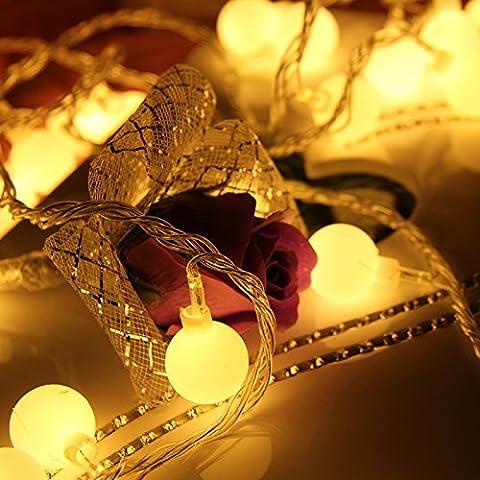 Zoweetek String Weihnachtsbeleuchtung LED Salcar von Farben, 10 Meter und