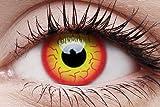 1 Paar farbige Crazy Fun Kontaktlinsen Motiv zu Karneval Halloween Cosplay Darth Maul mit Kontaktlinsenbehälter