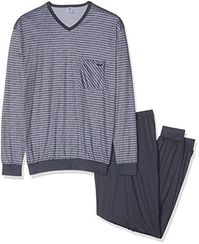 Calida Herren Relax Streamline 5 Zweiteiliger Schlafanzug, Grau (Lavender Grey 352), X-Large (Herstellergröße: XL)