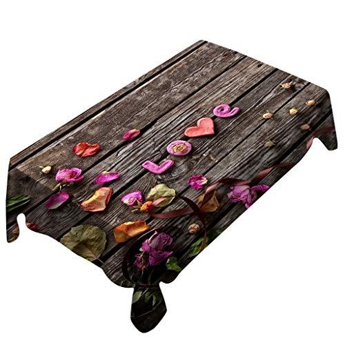 Bolanq, tovaglia rettangolare per san valentino, decorazione per la casa, multicolore, 150x260cm