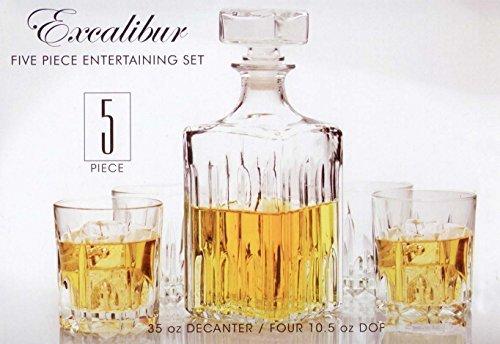 Eines Fasses Italienisches Made Excalibur 5-teiliges Whiskey Dekanter Set 1 Double Old Fashioned