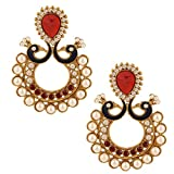 Riana Ethnic Peacock love Red crystal Ch...