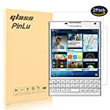 [2 Pack] Protector de pantalla de cristal para Blackberry Passport Silver Edition pinlu Protector Cristal Vidrio Templado para Blackberry Passport Silver Edition [9H/2.5D/0.26mm, 99% Transparente]