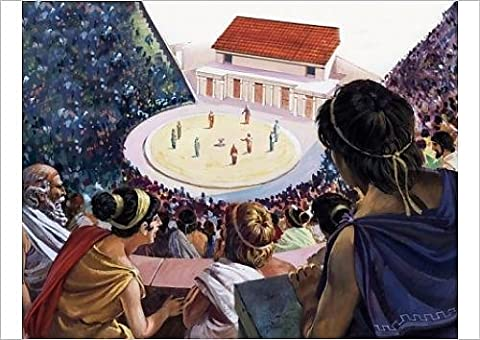 Fine Art Print of Greek theatre