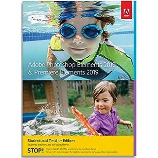 Adobe Photoshop Elements 2019 & Premiere Elements 2019   Student & Teacher     PC    Download