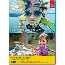 Adobe Photoshop Elements 2019 & Premiere Elements 2019 | Student & Teacher | PC/Mac | Disc