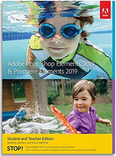 Adobe Photoshop Elements 2019 & Premiere Elements 2019   Student & Teacher   PC/Mac   Disc