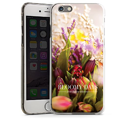 Apple iPhone 6 Housse Étui Silicone Coque Protection Prairie Tulipes Fleurs CasDur transparent
