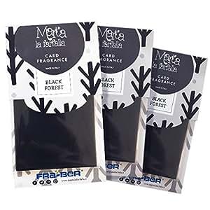 MARTA LA FARFALLA CARD BLACK FOREST 3PZ - Profumatore / Deodorante per ambienti e auto.