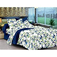 Ahmedabad Cotton Flat King Bedsheet Set, Multi-Colour, 275 x 275 cm, CSVB144KFLS_30K46