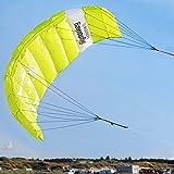 """Skymonkey Airtwister 1.3 Lenkmatte mit Flugschlaufen """"Ready 2 Fly""""- 130 cm [grün-gelb]"""