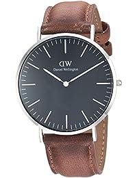 Daniel Wellington Classic Herren-Armbanduhr Analog Quarz Leder - DW00100132