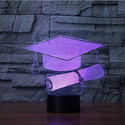 Nachtlichter Kreative 3D Usb 7 Bunte Graduation Cap Led Schreibtischlampe Baby Schlaf Licht Kreative Geschenke Wohnkultur Leuchte