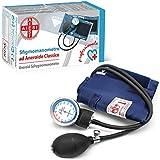 AIESI Esfigmomanometro Tensiómetro Manual Profesional Aneroide modelo clasico con brazalete de nylon para adultos DOCTOR PRECISION