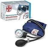 AIESI Esfigmomanometro Tensiómetro Manual Profesional Aneroide modelo clasico con brazalete de nylon para adultos DOCTOR PRECISION  Medidor de presión sanguinea mecánico  Garantía 24 meses