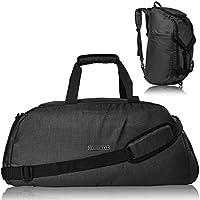 Ronin's 3in1 Sporttasche Reisetasche mit Schuhfach + Rucksack-Funktion + Laptopfach | 38 Liter Handgepäck Weekender | für Männer und Frauen | Spacegrau 2018