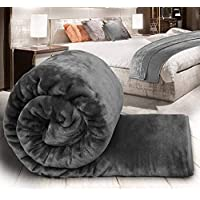 aqrate Embossed Very Warm Korean Mink Blanket Single Bed for Winter (60 x 90 Inches) Gray