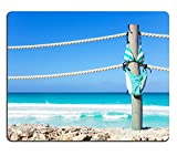 Liili Mouse Pad Tapis de souris en caoutchouc naturel Image ID 33427938 Natation Stripped Bikini Hang on Cordes de quai