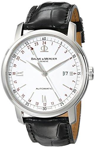 baume-mercier-classima-homme-42mm-automatique-cuir-bracelet-montre-moa08462