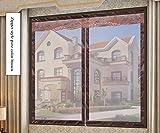 YOLE Anti-Moskito-Vorhang-Klettverschluss Magnet Fliegengitter Fenster Vorhang Insektenschutz Reißverschluss des Mittelblocks offen Der Vorhang ist Ideal für die Kinderzimmer,F,120 * 100cm/47 * 39in