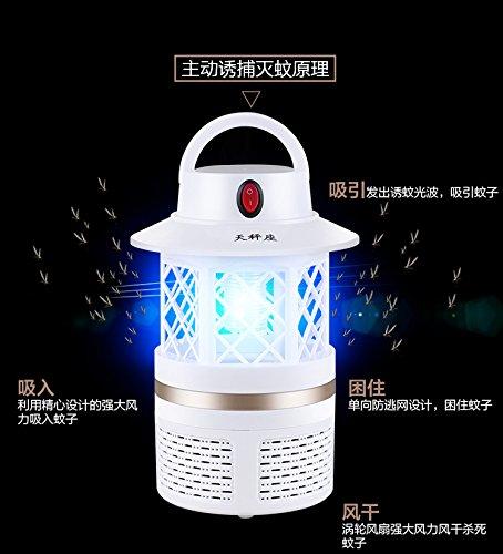YQQ Anti - Moskito - Licht Photokatalysator Hause ohne Strahlung stumm Baby Verhütungsmittel elektronische Anti - Fliegen Mückenschutz Mücken Insektizid Insekten , white usb (Mückenschutz Solar-licht,)