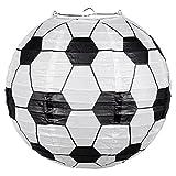 Generique - Fussball-Laterne Hängedeko Schwarz-Weiss 25 cm